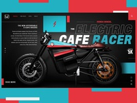 Honda Denzel Electric Cafe Racer Website Design Concept