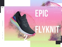 Nike Epic React Flyknit 2 Website Design Concept