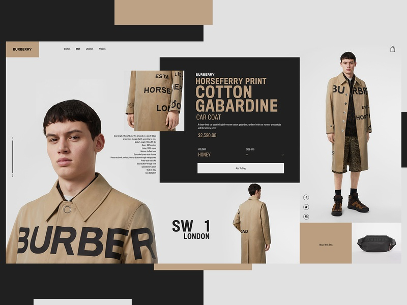 Burberry Website Design Concept clothing brand clothing design burberry product design ui typogaphy web graphic desgin web design design creative branding