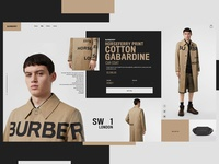 Burberry Website Design Concept