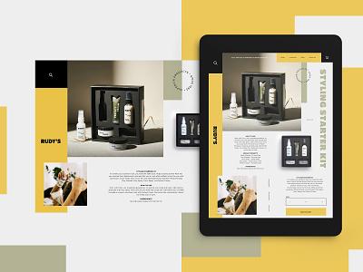 Rudy's Barbershop Website Design Concept barbershop product design mockup design ui typogaphy web graphic desgin web design design creative branding