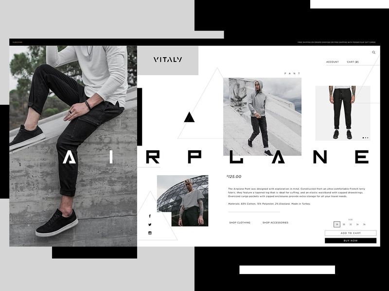 Vitaly Website Design Concept clothing design product design ui typogaphy web graphic desgin web design design creative branding