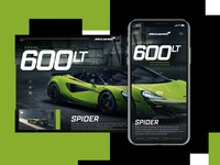 McLaren 600LT Spider Website Design Concept
