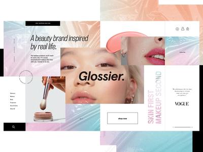 Glossier Website Design Concept