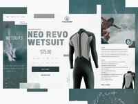 Volcom Surf Website Design Concept