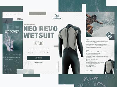 Volcom Surf Website Design Concept volcom surf product design ui typogaphy web graphic desgin web design design creative branding