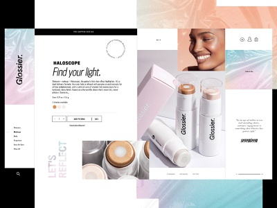 Glossier Website Design Concept cosmetics glossier product design ui typogaphy web graphic desgin web design design creative branding