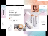Glossier Website Design Concept