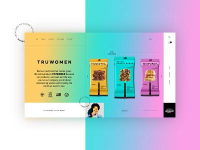 Truwomen - Homepage Website Design Concept 🍪 product design ui typogaphy web graphic desgin web design design creative branding