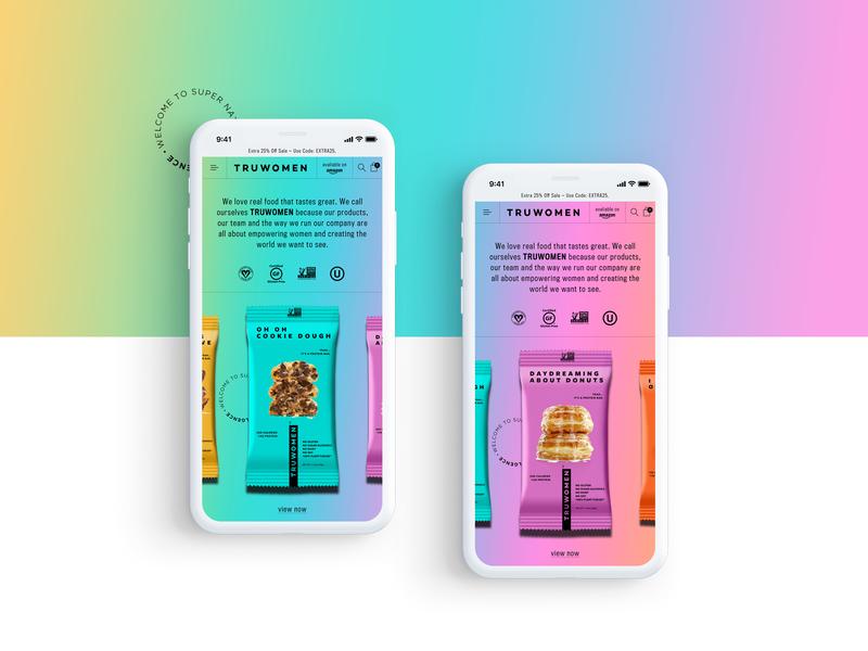 Truwomen - Mobile Website Design Concept 🍪 mobile product design mockup design web ui graphic desgin web design design creative branding