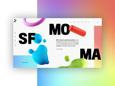 SF MOMA - Homepage Website Design Concept 🎨 moma museum san francisco typogaphy ui web graphic desgin web design design creative branding