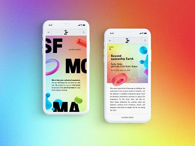 SF MOMA - Mobile Website Design Concept 🎨 art museum san francisco mobile design typogaphy ui web graphic desgin web design design creative branding