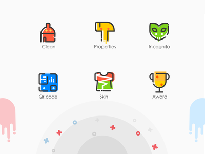 Lovely Line Style Icons