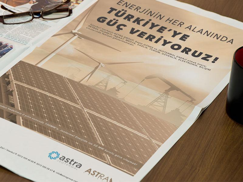 Astra Energy Newspaper Adv energy oil geothermal clean minimal rightpage erdemozkan adv newspaper enerji astra