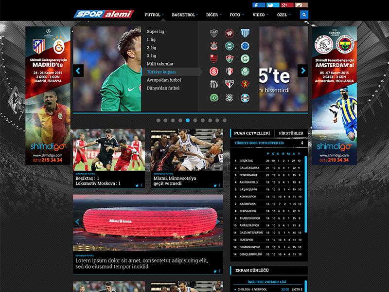 Sporalemi UI/UX rightpage erdemozkan sport news uiux sporalemi