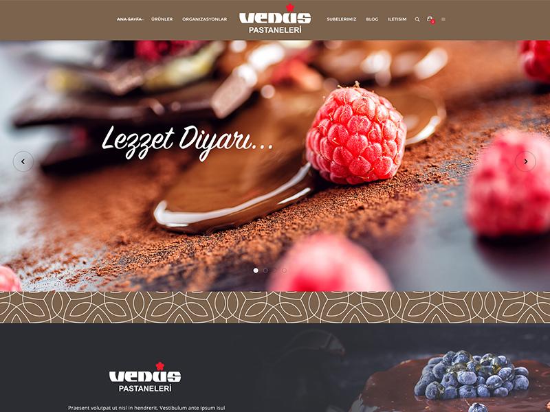 Venüs Patisserie Web rightpage venüs pastanesi erdemozkan web design ux ui web cake patisserie