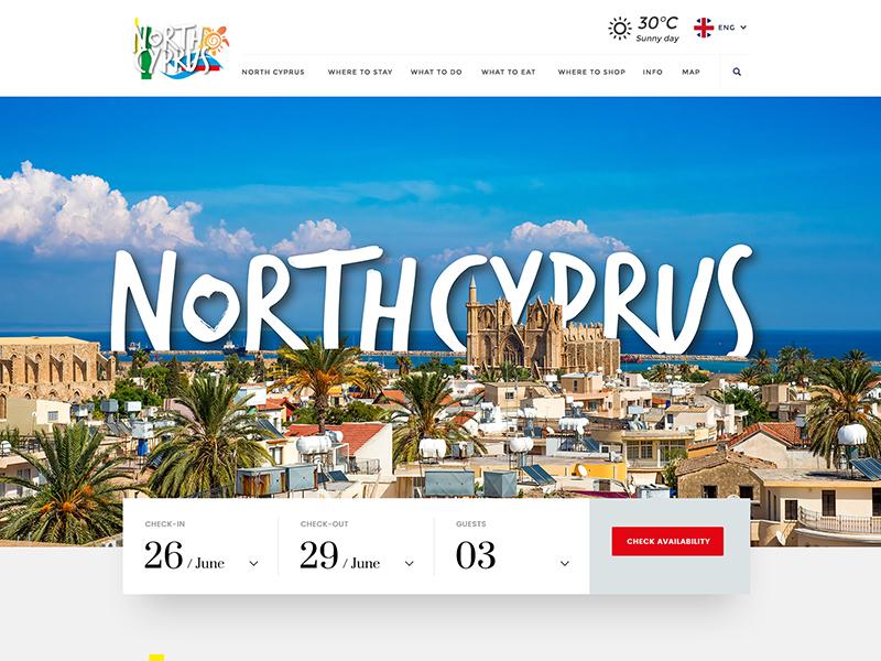 North Cyprus Web rightpage myislandnorthcyprus ux ui erdemozkan web cyprus north