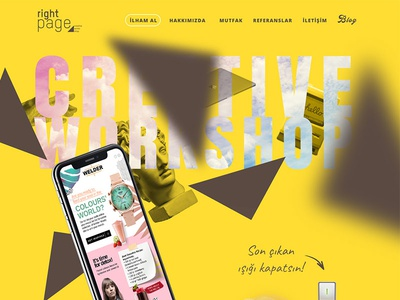 Right Page Agency Web lamp works creative iphonex mockup responsive paralax minimal web agency page right