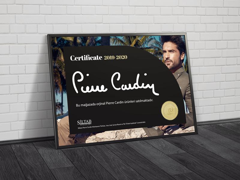 Pierre Cardin Certificate frame design shoes erdem ozkan right page certificate pierre cardin