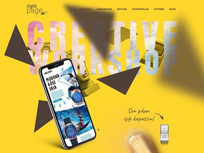 Right Page Agency Web erdemozkan creative agency creative iphonex rightpage adobexd minimal paralax webdesign agency