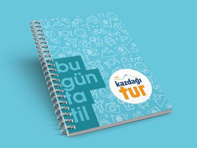 Kazdağı Travel Notebook erdemozkan minimal blue spiral notebook travel kazdağı