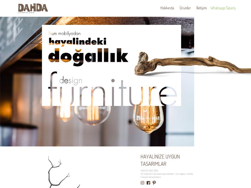 dahda.co Homepage clean typography rightpage erdemozkan creative design art minimal ui ecommerce furniture homepage dahda