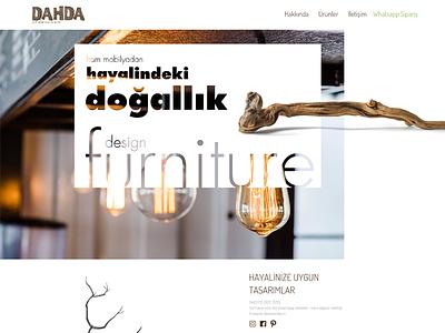 dahda.co Web Design clean typography rightpage erdemozkan creative design art minimal ui ecommerce furniture homepage dahda