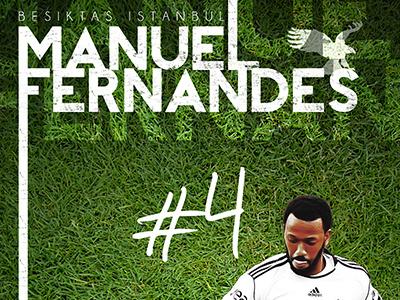 Manuel Fernandes Poster besiktas poster football istanbul bjk ball erdem print soccer fernandes manuel