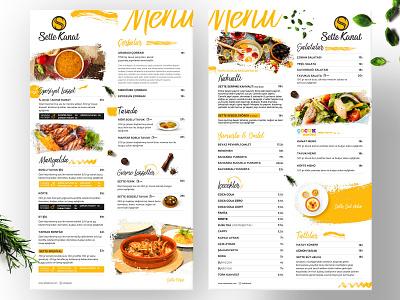 Sette Kanat Menu menubar mockup print menu card menu design erdem özkan design rightpage minimal branding design identity design chicken logo chicken wings food menu menu sette sette kanat