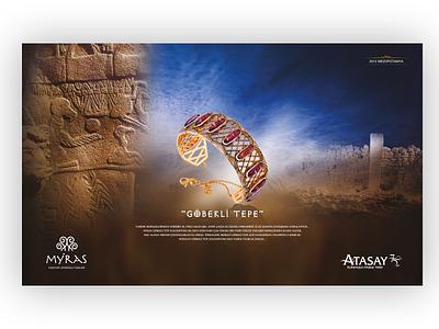 Atasay Myras Göbeklitepe advertising poster erdemozkan jewelry myras atasay