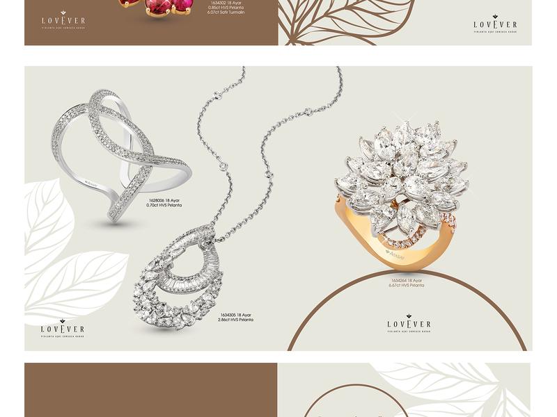 Atasay Jewelry Brochure erdemozkan brochure mockup brochure layout brochure design branding clean jewelry design atasay