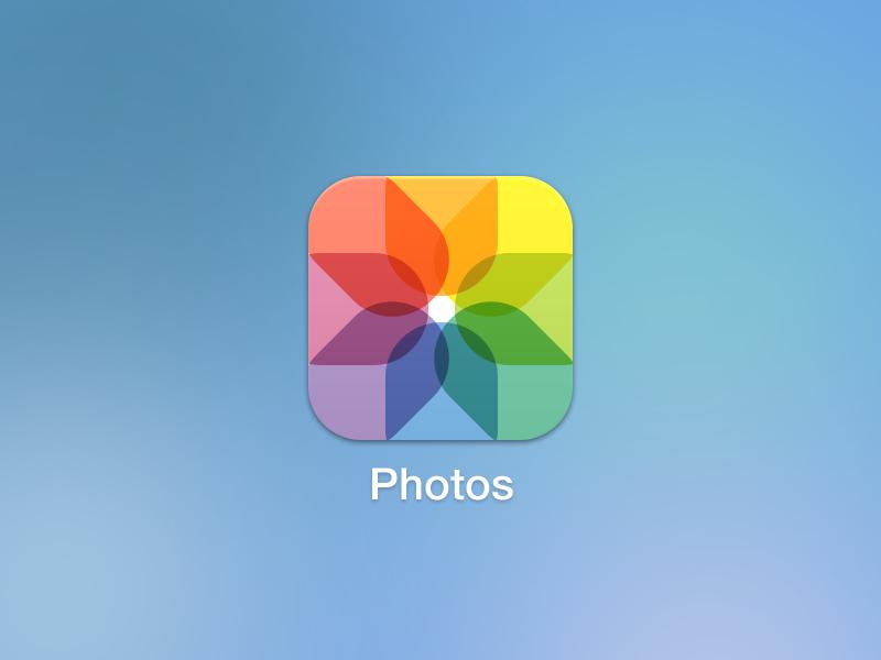 iOS 7 Photos icons ios