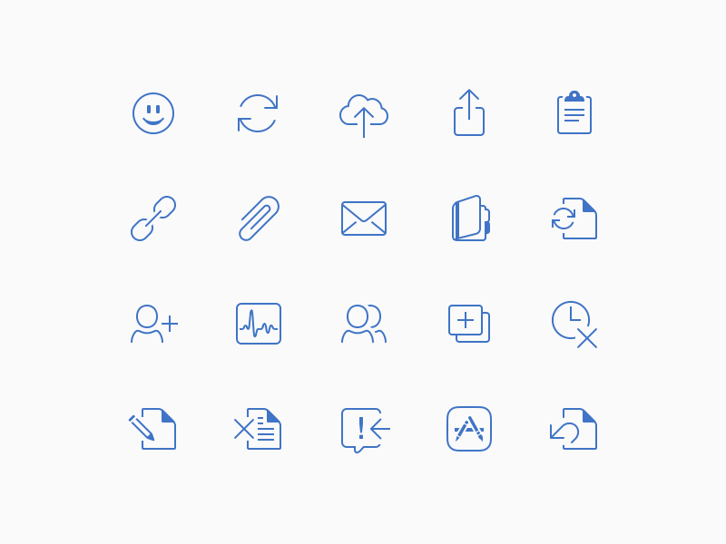 Microsoft Office for iPad Menu Icons icons ipad ios