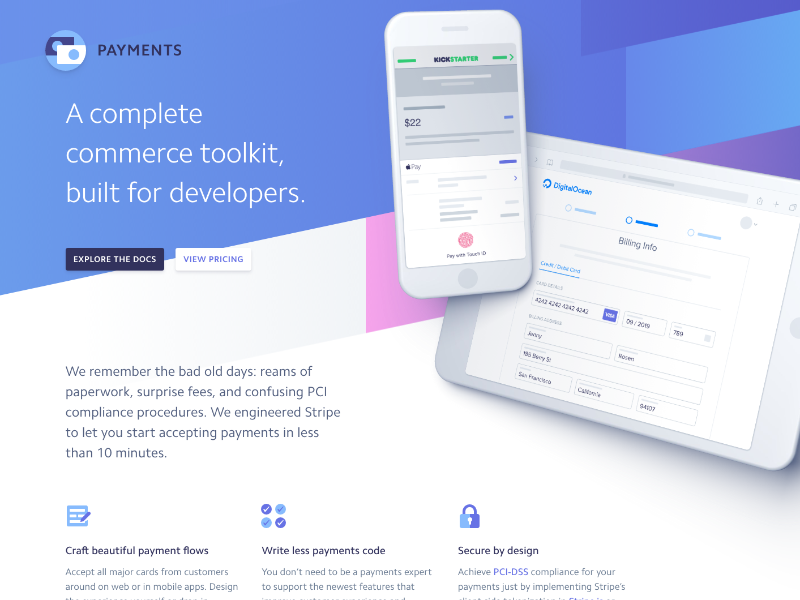 stripe.com/payments web