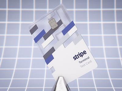 Stripe Terminal Test Card 3d