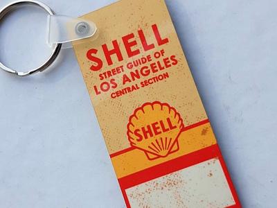 Vintage Shell Street Map inspired printed keyring sublimation printing keyring branding logo illustration icon design vector graphic design