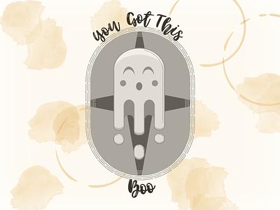 You Got This Boo logo icon branding illustration vector design graphic design
