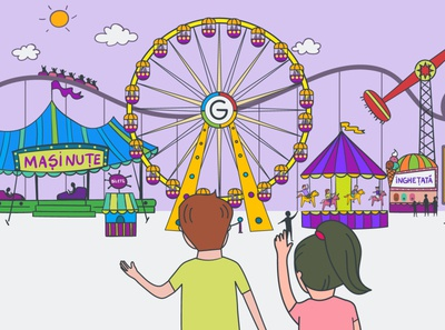 Amusement Park - Cyber Violence ngo amusement park video animation 2d illustration