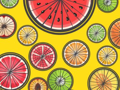 Pattern for bike saddles product design adobe illustration fruits pattern vector illustration