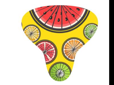 Tutti frutti Bike saddle design fruits bike saddle design product design pattern design adobe illustration vector illustration