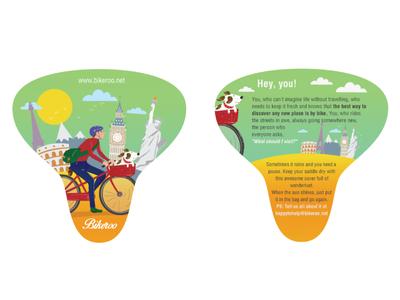 Bike saddle pack label design packaging graphic design vector illustration bike packaging label design