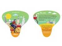 Bike saddle pack label design
