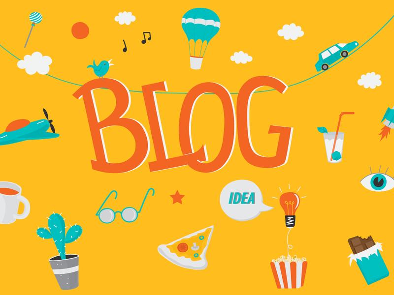 Blog header illustration blog header design vector illustrations