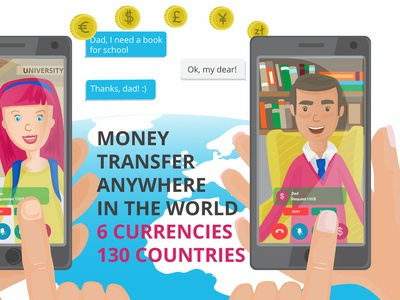 Money app Animation scene character illustration 2d illustration illustration video marketing video animation adobe illustration vector illustration