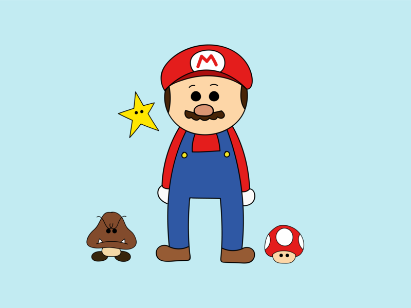 It S A Me Mario By Tamara Pater On Dribbble