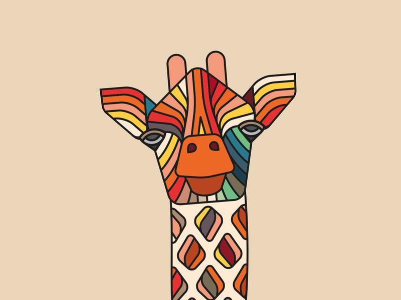 Beer O'Clock cycling jersey: Giraffe animal giraffe illustration cycling