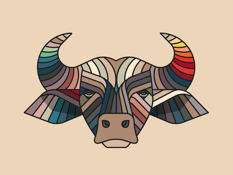 Beer O'Clock cycling jersey: Buffalo animal buffalo illustration cycling