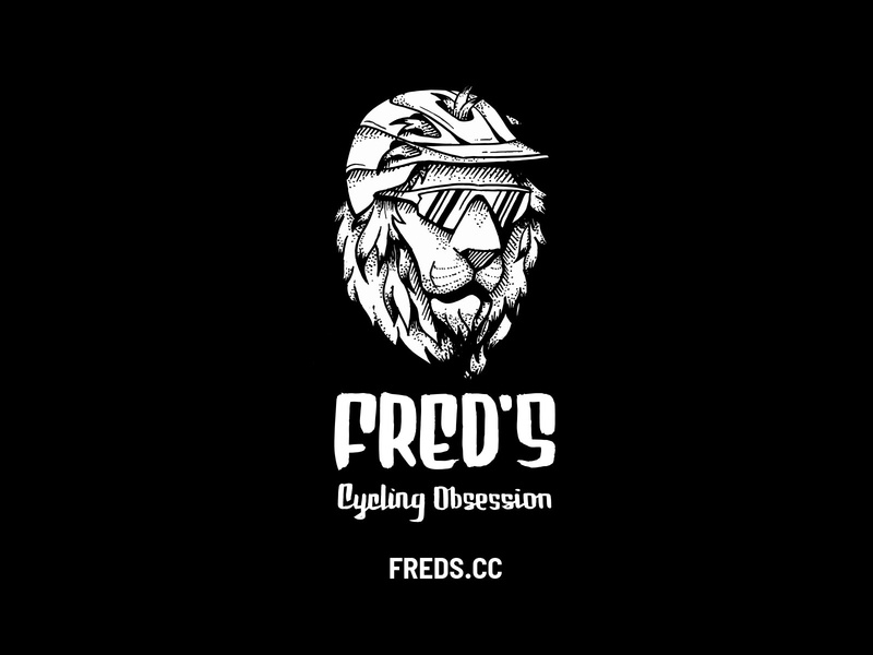 Fred's Cycling Obsession logo brand design brand identity branding handlettering handrawn illustration logo mountain bike cycling