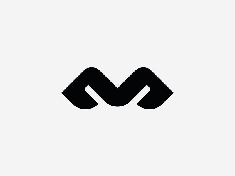 M letterform symetry identity typography brand logo design