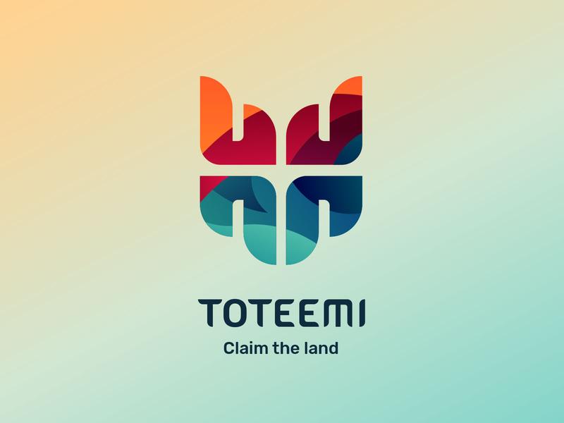 Toteemi logo lockup typography design identity app brand game logo